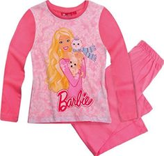 Official Barbie Girls Barbie Pajamas PJ Set with Chihuahua - Girls Nightwear Barbie Doll - Girls PJS Kids Little Girl Toys, Little Girl Fashion, Disney Outfits, Kids Outfits, Disney Clothes, Baby Kids Clothes, Kids Clothing, Space Clothing, Family Pajama Sets