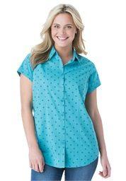 Cotton cap sleeve campshirt