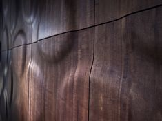 multi-layer wall covering of real wooden veneers. Creative Architecture, Architecture Design, Wall Cladding Designs, 3d Wall Decor, 3d Wall Panels, Wooden Walls, Wood Design, Interior Design Inspiration, Wood Crafts