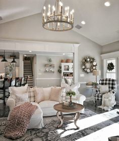 49 Amazing French Country Living Room Design Ideas For This Fall . - 49 Amazing French Country Living Room Design Ideas For This Fall 49 Amazing French C - French Living Rooms, French Country Living Room, French Country Farmhouse, French Country Decorating, Home Living Room, Living Room Designs, Living Room Decor, Bedroom Decor, Country Fall