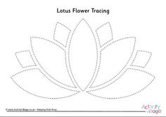 Lotus Flower Tracing Page String Art Templates, Paper Cutting Templates, String Art Patterns, Drawing Templates, Stencil Templates, Stencil Patterns, Templates Printable Free, Stencils, Simple Embroidery Designs