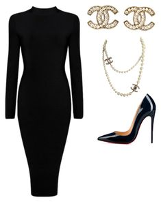 """""""Untitled #6"""" by lelydan on Polyvore featuring Christian Louboutin and Chanel"""