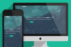 Fabric - One page website template by Scott Byrne Design on Creative Market