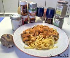 "Champignon-""Rahm""sauce mit Tagliatelle. Kochen ohne Tüte!"