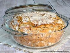 GRUNT TO PRZEPIS!: Chleb z garnka z ziarnami Healthy Bread Recipes, Vegan Recipes, Cooking Recipes, Good Food, Yummy Food, Muffin, Snacks Für Party, Bread And Pastries, Polish Recipes