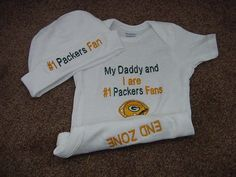 Green Bay Packers NFL Football Baby Infant by Embroideryworld