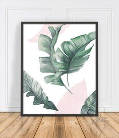 New Ideas For Paper Palm Tree Leaves Tropical Leaf Wall Art, Leaf Art, Wall Art Decor, Room Decor, Tropical House Design, Tropical Home Decor, Tropical Interior, Tropical Bedrooms, Modern Prints