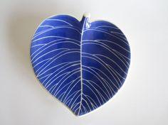 Leaf Dish Rare Blue Confetti Royal Copenhagen