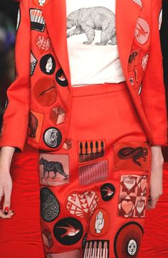 Stampe e patterns dalla London Fashion Week (collezioni donna autunno/inverno 2013/14). Holly Fulton.