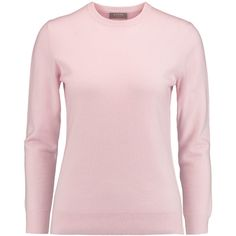 N.Peal Cashmere Boyfriend cashmere sweater ($152) ❤ liked on Polyvore featuring tops, sweaters, pastel pink, wool cashmere sweater, side slit sweater, boyfriend sweater, pink sweater and boyfriend tops