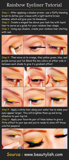 Rainbow Eyeliner Makeup Tutorial | Beauty Tutorials