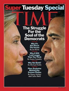 POTUS and his contender, Hillary Clinton