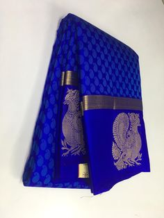 Color : MultySaree Fabric : Pure SilkBlouse Fabric : Pure SilkSaree Size : M. Bridal Sarees South Indian, South Silk Sarees, Blue Silk Saree, Wedding Silk Saree, Royal Blue Saree, Purple Saree, Bridal Sari, Kerala Saree, Costumes