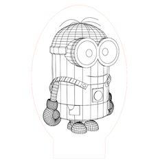 Minion 3d illusion lamp vector file for CNC - 3bee-studio