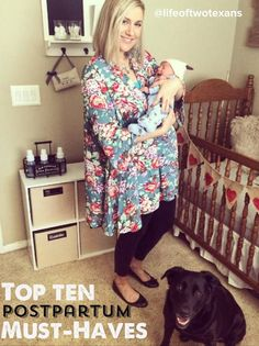 The Life of Two Texans: My Top 10 Necessities for Postpartum Recovery