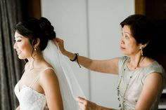 20 Ways to Wear a Veil With Your Wedding Hairstyle - Whether you're sporting a formal updo or long, loose waves, here's the lowdown on wedding hairstyles with veils. {Crystal Sepulveda Makeup}