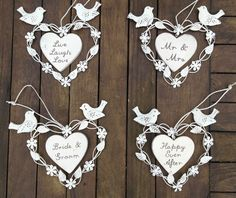 VINTAGE STYLE WEDDING HEART SIGN GIFT DECORATION WEDDING FAVOURS