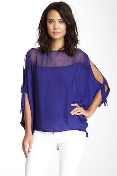 6834bf9c4b5 Emerson Thorpe Silk Sahara Circular Top Couture Tops