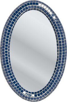 Spiegel Square Blue Oval 90x60cm