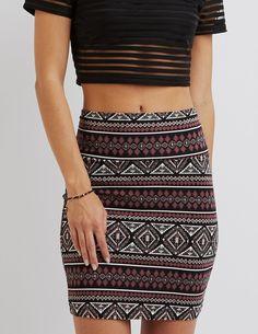 *CHARLOTTE RUSSE || Printed bodycon mini skirt | Mini falda estampada