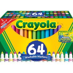 """Crayola 64-Count Broad Line Marker   Must be the """"KID"""" in me because I still love buying Crayola markers."""