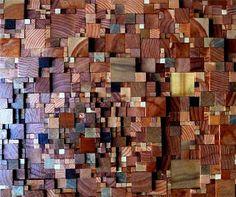 wood samples reused as art: baltimore etsy street team: May 2010