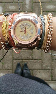 Platinum and Rose Gold Wrist Accessories