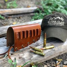 Leather Buttstock Rifle Cartridge Carrier