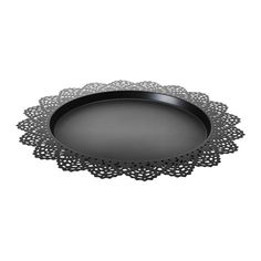 "IKEA - SKURAR, Candle dish, The candle dish stands evenly because it has soft plastic feet. 15"" diameter, $4.99"