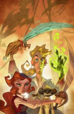 Monkey Island by Ryan Jones Monkey Island, Character Concept, Character Art, Concept Art, Character Illustration, Illustration Art, Ryan Jones, Lucas Arts, Character Design References