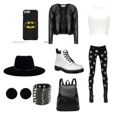 """Punk concert"" by smileyface3101 on Polyvore featuring Yves Saint Laurent, Zizzi, Dr. Martens, Zimmermann and AeraVida"