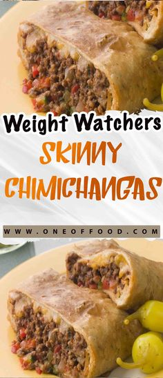 Weight Watchers Skinny Chimichangas - One of food per chimichanga Weight Watcher Dinners, Weight Watchers Chicken, What Is Weight Watchers, Weight Watchers Ground Turkey Recipe, Weight Watcher Girl, Ww Recipes, Cooking Recipes, Healthy Recipes, Cooking Time
