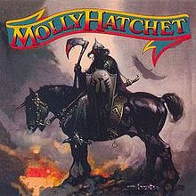 "Molly Hatchet's debut cover, a painting by Frank Frazetta entitled ""The Death Dealer."""