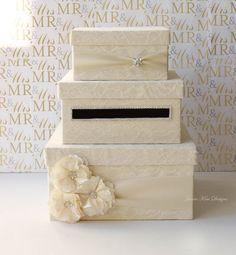 Lace Wedding Card Box Card Holder Custom Made by jamiekimdesigns, $159.00