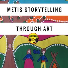 Métis Storytelling Through Art – Ninja Notes Aboriginal Education, Indigenous Education, Indigenous Art, Aboriginal Art, Art Education, Teaching Activities, Art Activities, Teaching Ideas, Teaching Tools