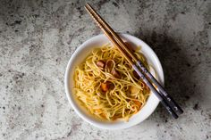 Ham and Carrot Asian Noodles