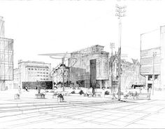"""Check out new work on my @Behance portfolio: """"marketsquare in Katowice, pencil…"""