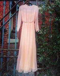 Shimmering rose. #shareenvintage #vintage #gown #rosegown #beaded #shareen #shareendotcom