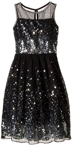 c56a48ffcee Amazon.com  Speechless Big Girls  Sequin Party Dress with Illusion Neck
