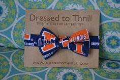 University of Illinois Adjustable Baby/Toddler Bowtie