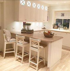 JessDeco Kitchen New Kitchen, Kitchen Dining, Kitchen Ideas, Kitchen Peninsula, First Home, White Wood, Hearth, Sweet Home, Loft
