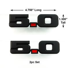 Give your 79-93 Ford Mustang 5.0 the Stealth look with these Flat Black 5.0 Emblems. Sold in pairs and comes with 3m adhesive backing for an easy install
