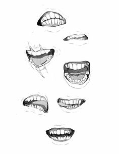 Anatomy drawing, teeth drawing, character design references, manga mouth, d Mouth Drawing, Body Drawing, Manga Drawing, Drawing Sketches, Art Drawings, Anatomy Art, Anatomy Drawing, Drawing Reference Poses, Drawing Poses