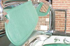 1956 Buick Roadmaster Convertible - Sun Visors Recovered - After - LeBaron Bonney Company: www.lebaronbonney.com (6)