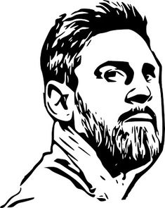 Dark Art Drawings, Abstract Drawings, Drawing Sketches, Messi Pictures, Messi Photos, Black And White Sketches, Black And White Portraits, Stencil Art, Stencil Designs