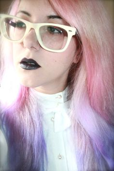 Pink and lilac pastel hair