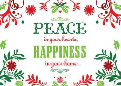 Peace and Happiness - Christmas Greeting Cards in Tree | Hallmark