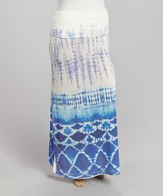 This Purple & Blue Tie-Dye Maxi Skirt - Plus by Poliana Plus is perfect! #zulilyfinds
