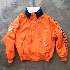 Vintage 90's Nautica Challenge J-Class Orange Sailing Jacket - (Med) by StreetDeco on Etsy