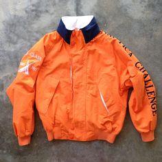 Vintage 90's Nautica Challenge J-Class Orange Sailing Jacket - (Med) by StreetDeco on Etsy